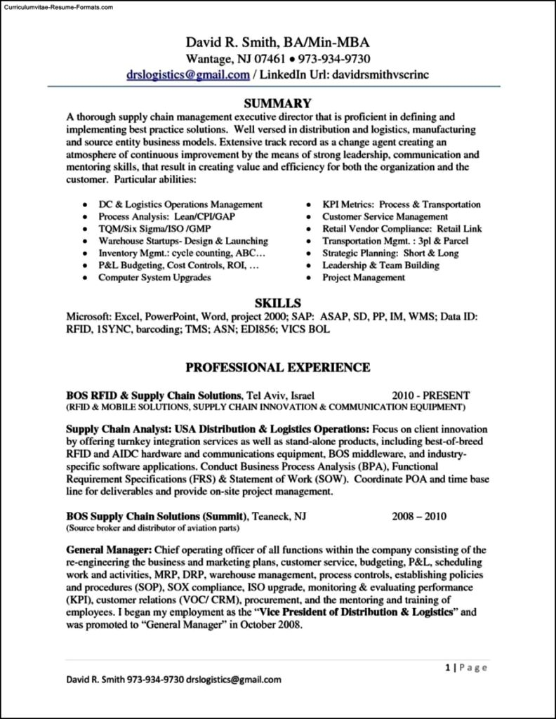 resume template linkedin