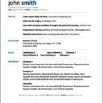 Resume Template Microsoft Word Mac