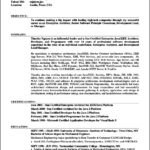 Resume Template On Word 2007