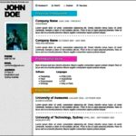 Resume Template Online