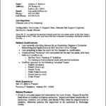 Resume Template Outline