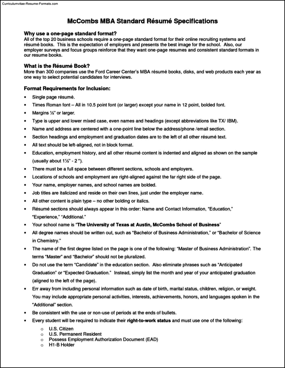 resume template standard free samples examples