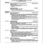 Resume Template Word 2003