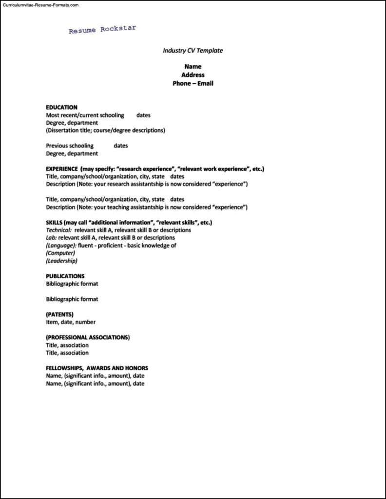 Resume Templates And Cover Letters