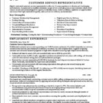 Resume Templates Customer Service Representative