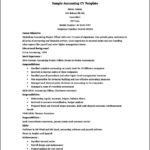 Resume Templates For Accounting