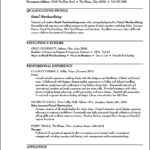 Resume Templates For Retail Sales Associate