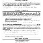 Resume Templates For Secretary