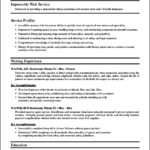 Resume Templates For Waitress