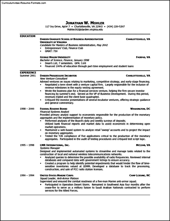 Resume Templates For Word 2003