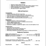 Resume Templates High School Students