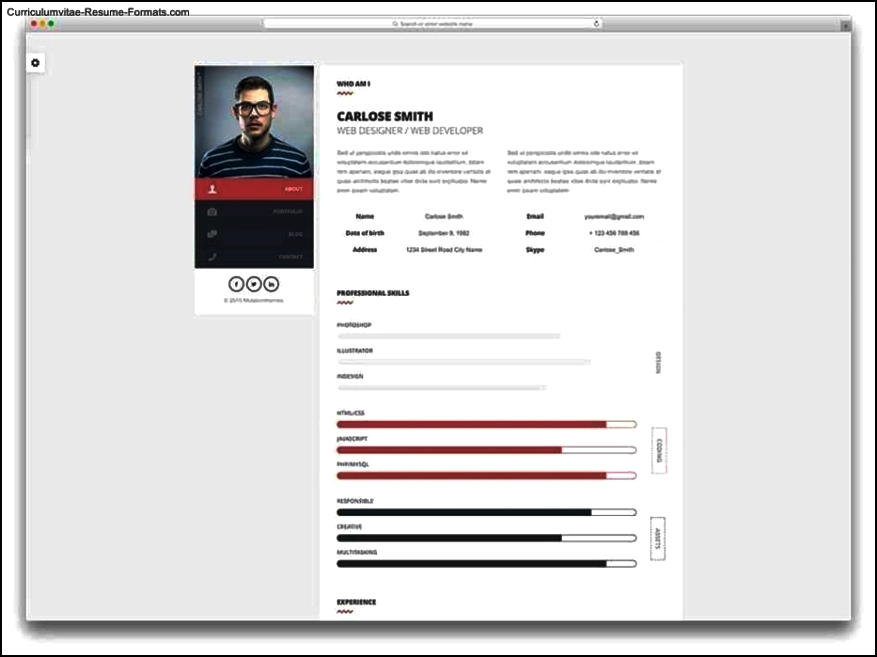 resume templates html
