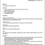 Resume Templates Open Office