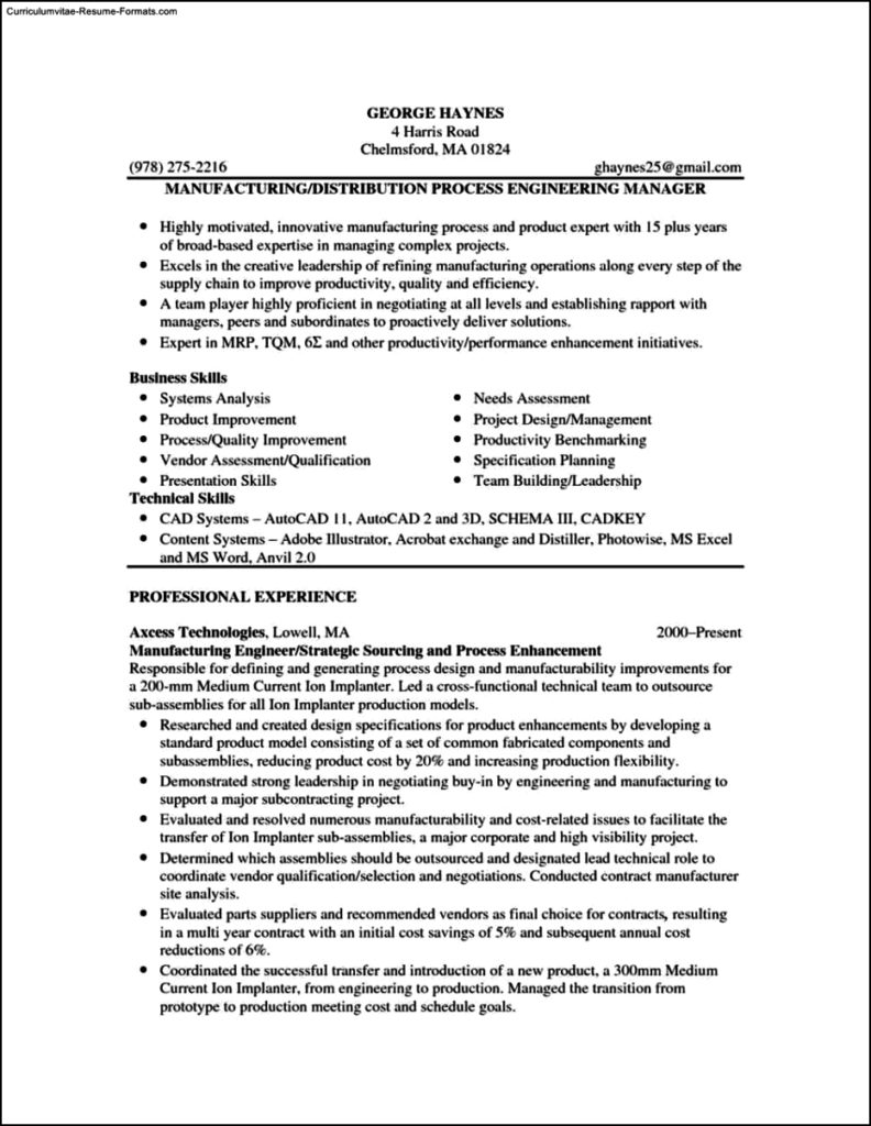 Resume Templates Pdf Free
