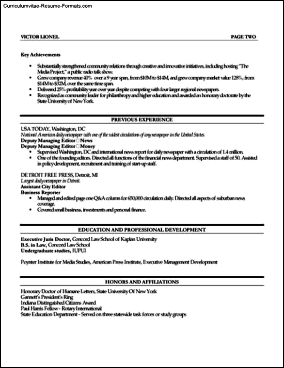 resume templates publisher