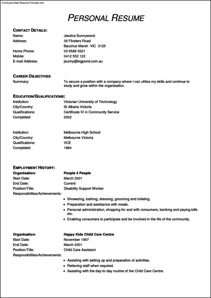 Resume Templates Receptionist