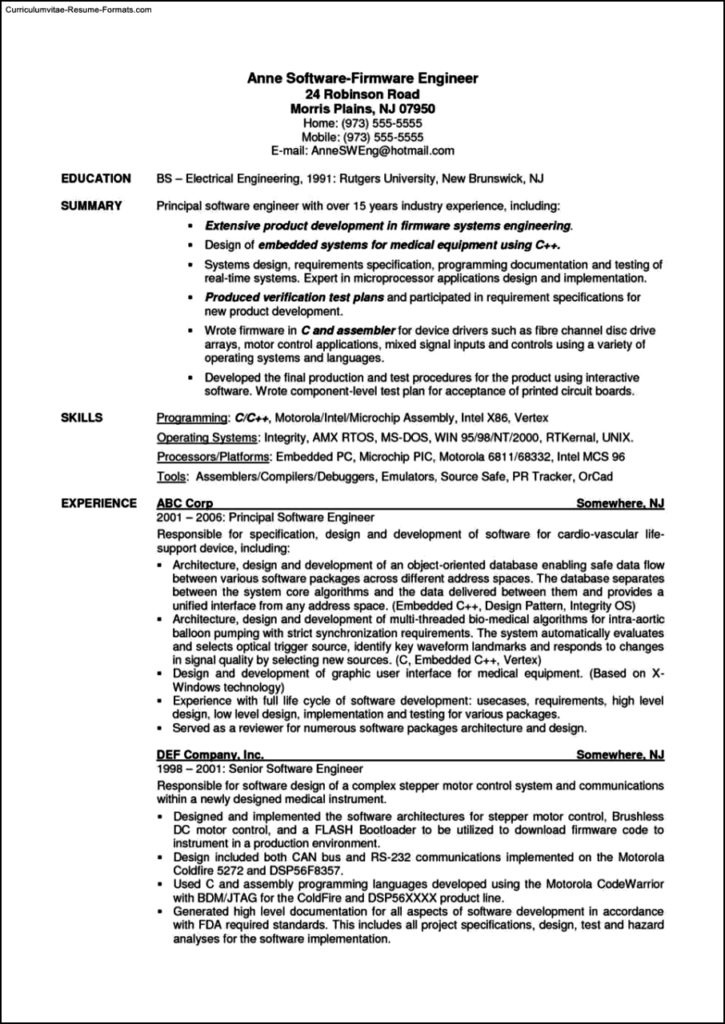 resume templates software
