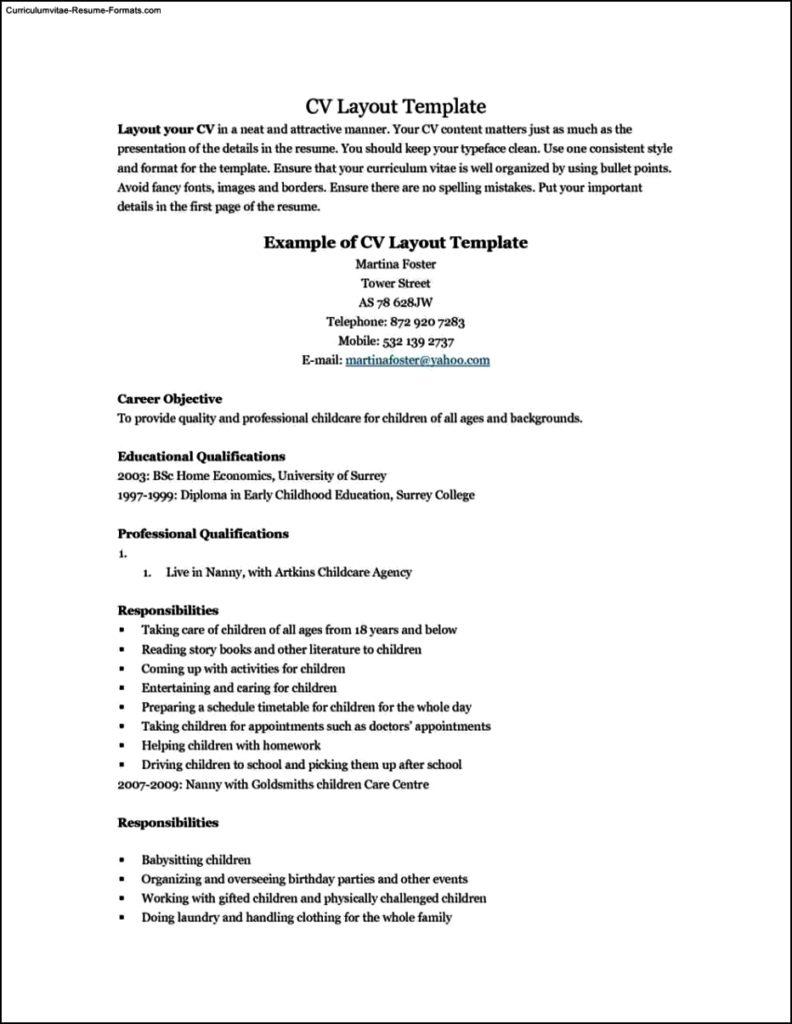 resume templates teenager
