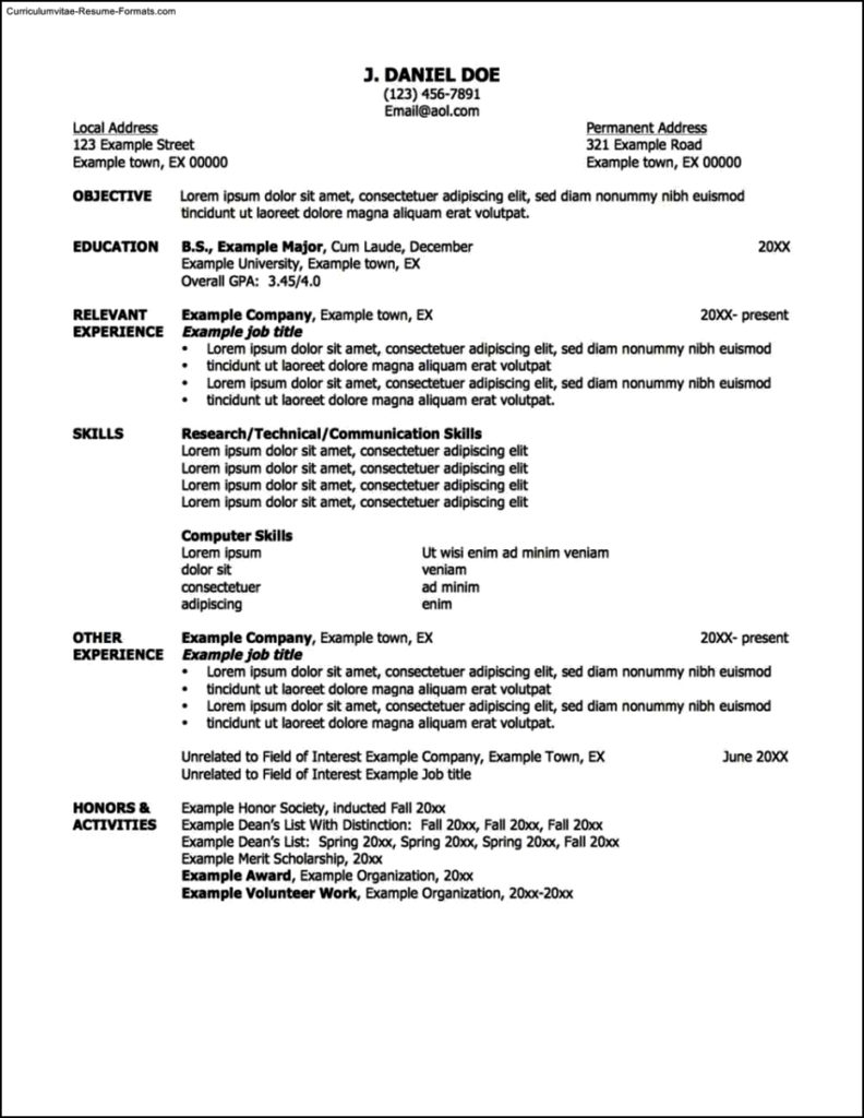 Resume Templates That Work