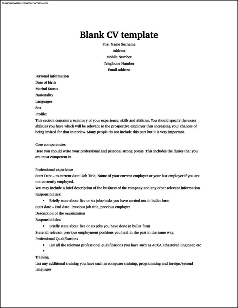 Resume Templates To Download