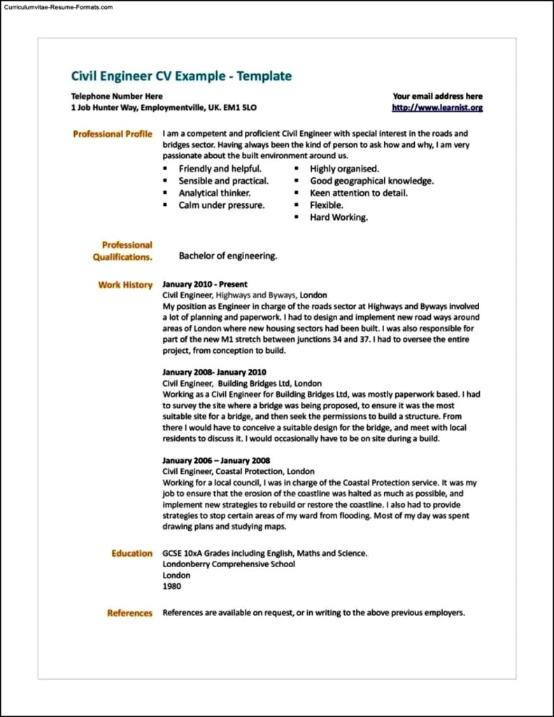 Resume Templates Uk