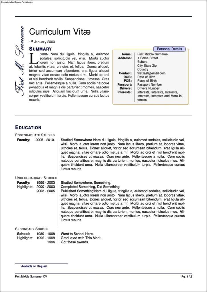 Curriculum Vitae Format Tex Prof Igor V Alexandrov