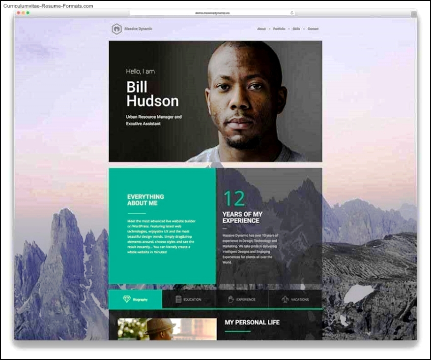 resume web page template