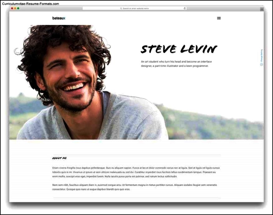 Resume Website Template Free