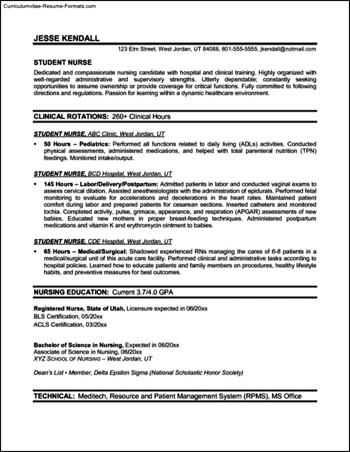 resumes for nurses template free sles exles