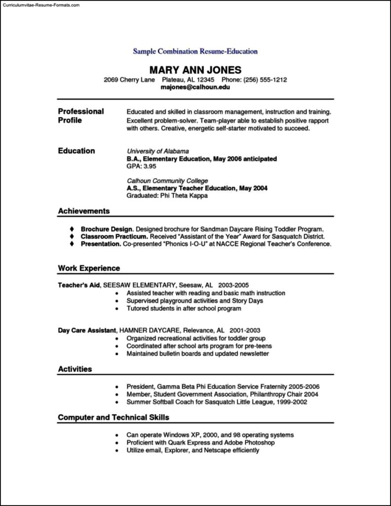sample combination resume template free samples examples format resume curruculum vitae. Black Bedroom Furniture Sets. Home Design Ideas