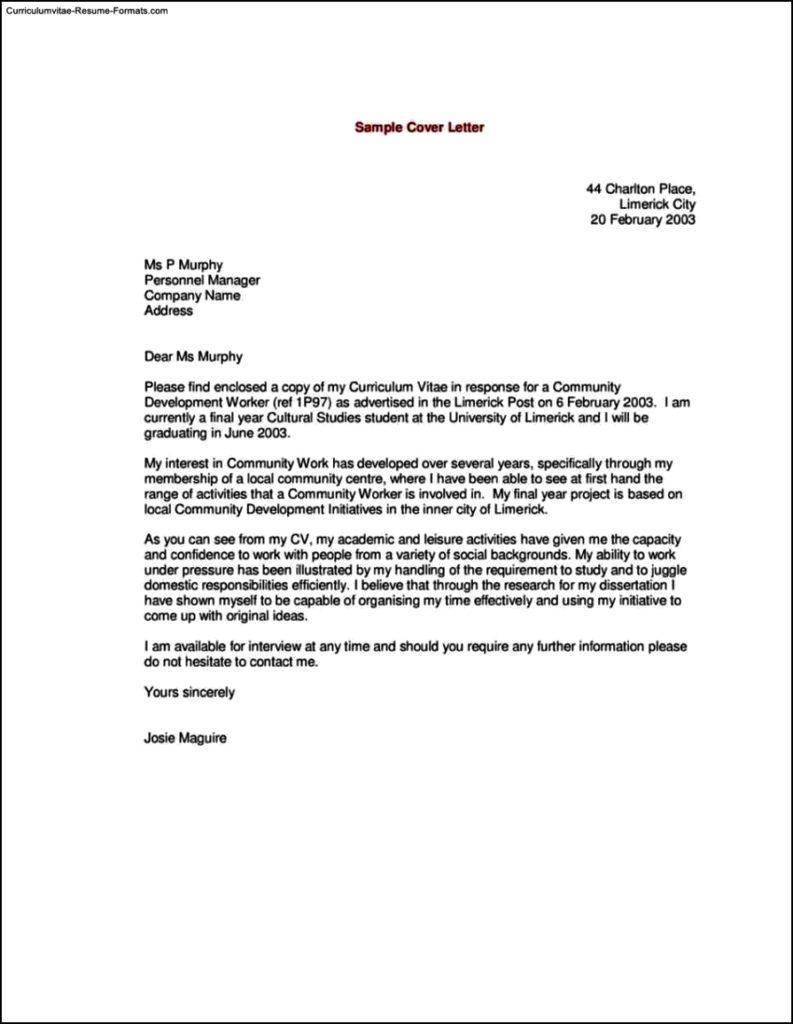 Sample Resume Cover Letter Template