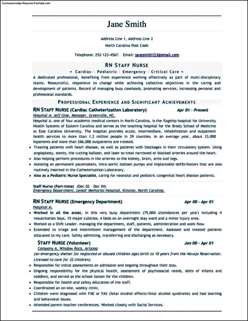 Sample Resume Templates Download