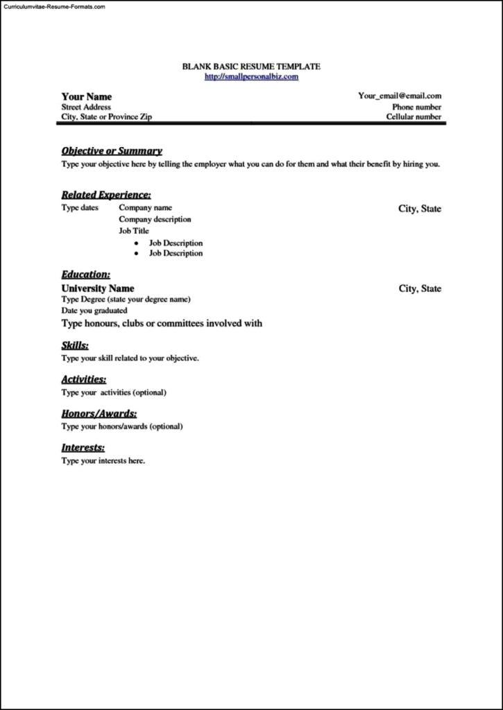 Simple Resume Template Free
