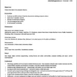 Simple Resume Template Open Office