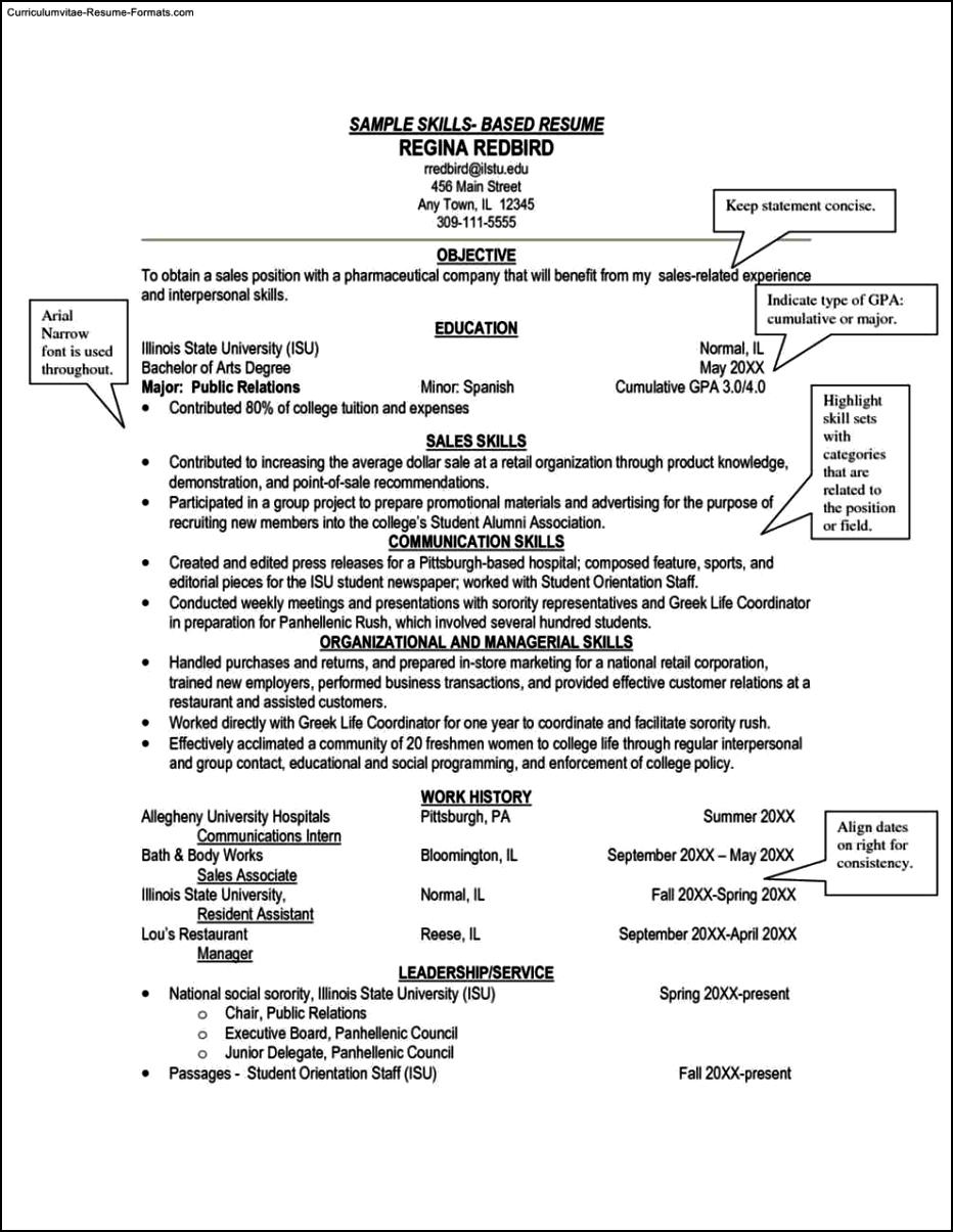skills based resume template word free samples