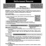 Skills Resume Template Word