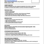 Standard Resume Template Download