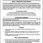 Store Manager Resume Template
