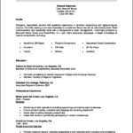Student Internship Resume Template