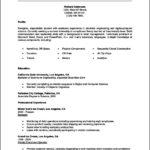 Student Internship Resume Template
