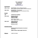 Student Resume Template High School