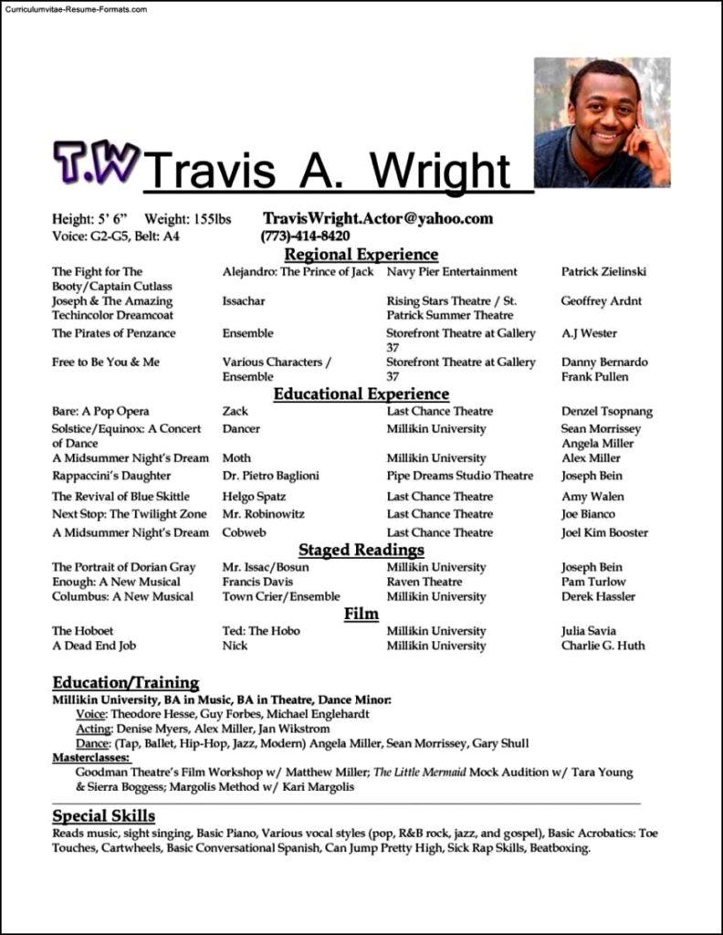 Talent Resume Template