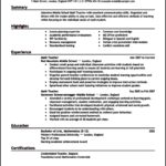 Teaching Resume Template