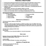 Teaching Resume Template Free