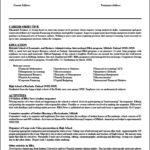 Teaching Resume Template Microsoft Word