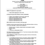 Template For Functional Resume