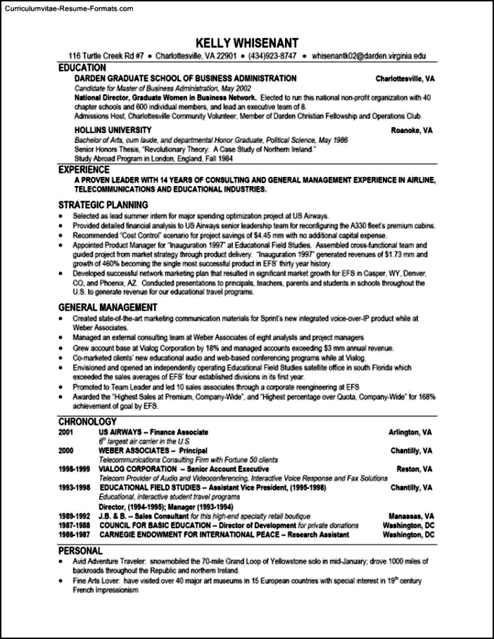 Top Resumes Templates
