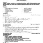 Warehouse Worker Resume Template