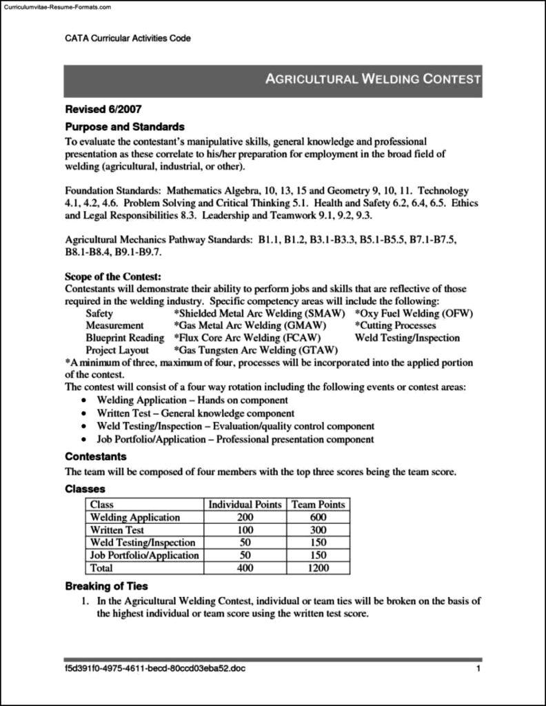 welder resume template free samples examples amp format