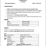 Windows 7 Resume Template